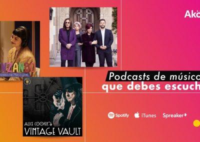 Alice Cooper, Mon Laferte y más músicos que tienen su propio podcast