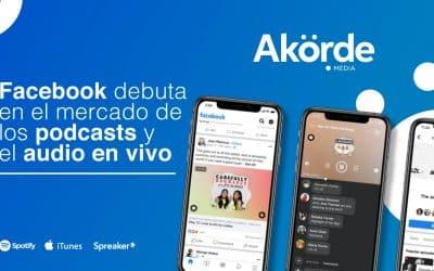 Facebook debuta en el mercado de los podcasts y las salas de audio en vivo